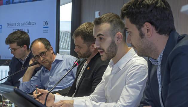 Desde la izq: Pablo Ezkurra, Tito Martínez de Carlos, Koldo Leoz, Jorge Crespo y Gonzalo Fuentes.