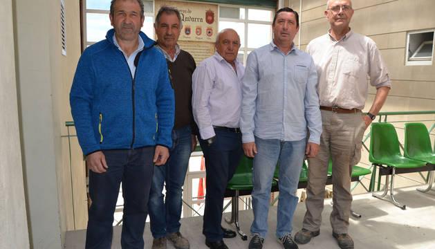 Pablo Alonso Irujo, Jesús Mª Alcalde San Martín, José Luis Navarro Muro, Fernando Cárcar García y Miguel Ángel Alcalde Ripa.