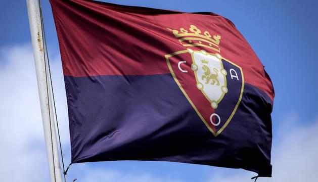 La bandera del C.A. Osasuna.