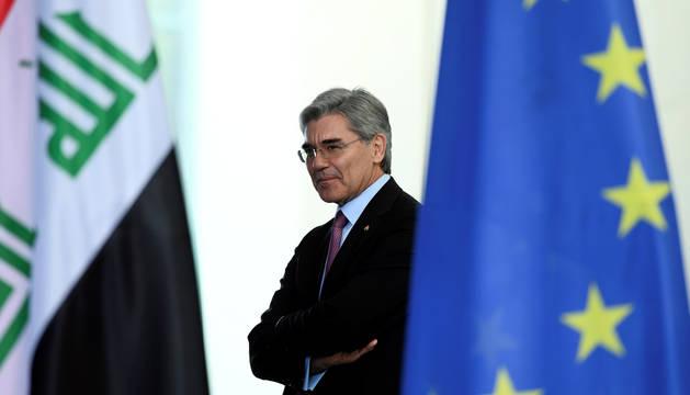 El presidente de la multinacional Siemens, Joe Kaeser
