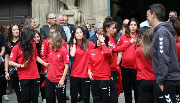 Recepción de Osasuna Femenino en el Ayuntamiento de Pamplona