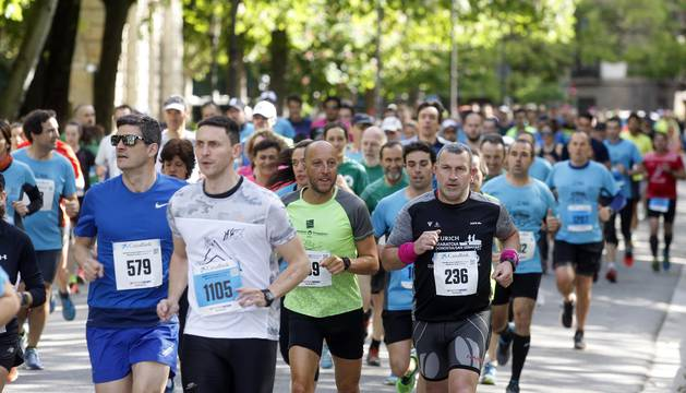 Galería de imágenes de la carrera disputada este domingo en Pamplona.