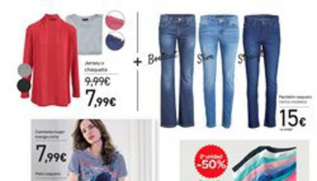 Un folleto de ropa de Carrefour