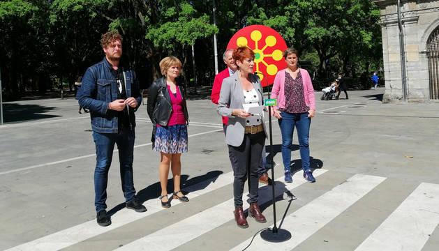 Bakartxo Ruiz durante el acto de campaña de este lunes 13 de mayo.