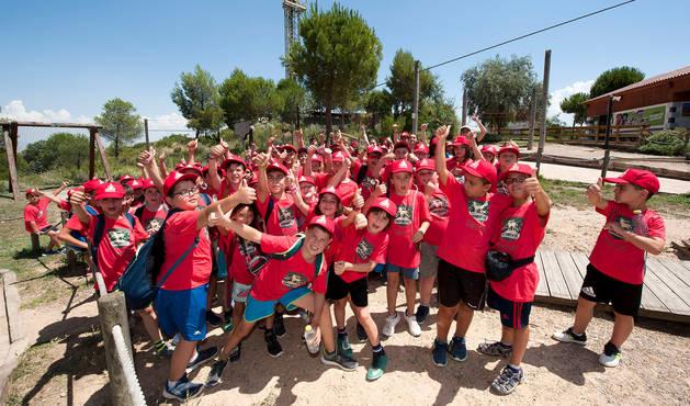 foto de Grupo de niños en un campamento de verano en Sendaviva anterior