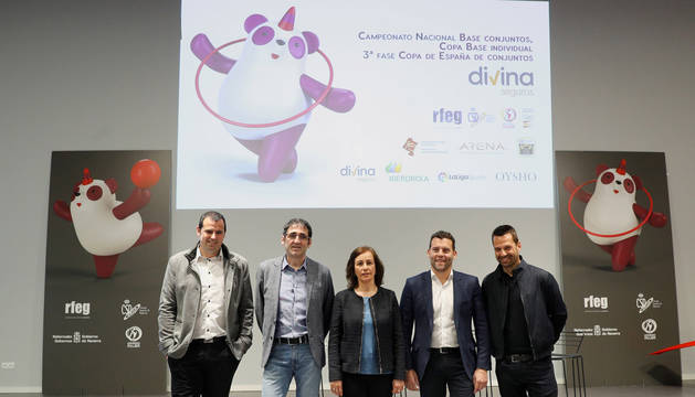 foto de Presentación del Campeonato Nacional Base de Conjuntos, de la Copa Base Individual y de la Tercera Fase de la Copa de España de Conjuntos de Gimnasia Rítmica 2019 en Pamplona