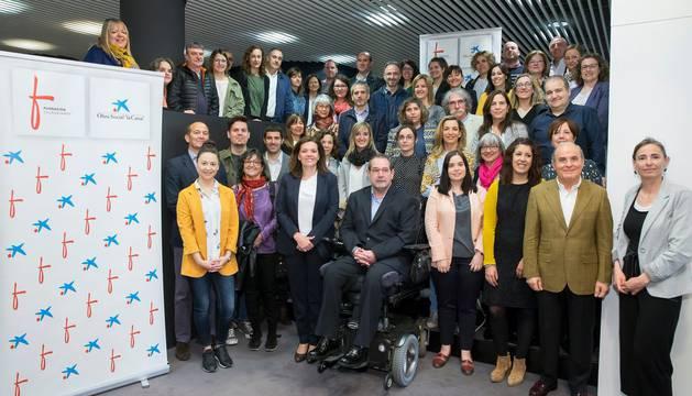 foto de Representantes de las entidades beneficiarias del programa 'Innov@social'.