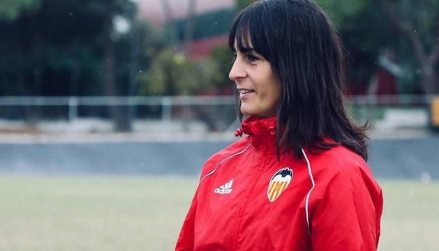 Carol Miranda, en una sesión con el Valencia femenino.