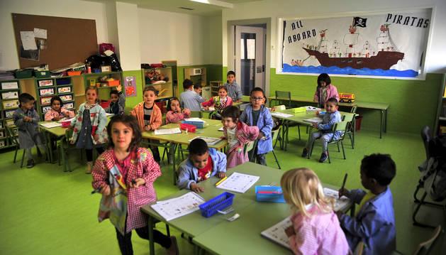 Alumnos del CP San Bartolomé de Marcilla durante una clase.