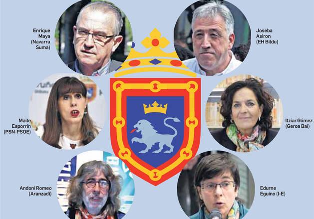 foto de Los cabezas de listas de las seis formaciones de Pamplona con representación participan en el foro electoral del periódico este jueves