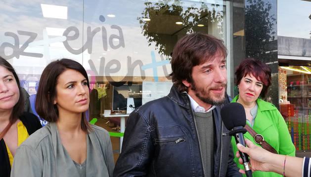 foto de Mikel Buil, candidato de Podemos a la Presidencia del Gobierno de Navarra