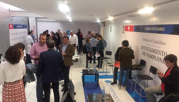 En el debate con los candidatos a Pamplona en Diario de Navarra