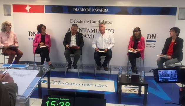 Los ponentes, este jueves, durante el debate