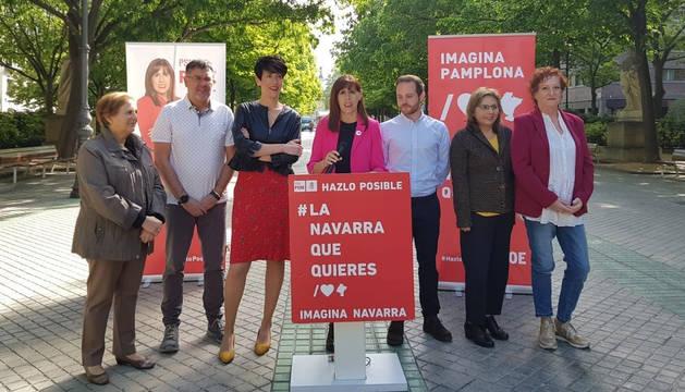 foto de Maite Esporrín, candidata del PSN a la Alcaldía del Ayuntamiento de Pamplona
