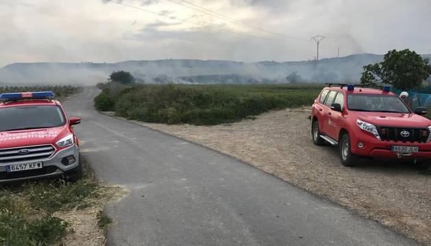 Incendio entre Viana y Moreda de Álava