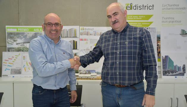 foto de Firma del convenio para duplicar las rehabilitaciones energéticas en la Txantrea
