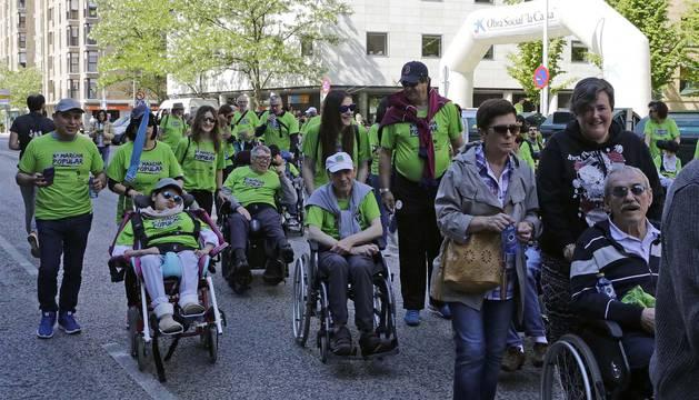 Una fotografía de la marcha del año pasado, que por primera vez se celebró en Pamplona.