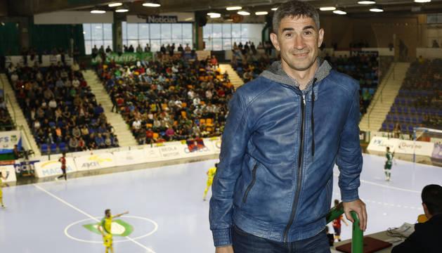 Alberto Undiano, este viernes en el pabellón Anaitasuna, adonde acudió a ver el partido entre Osasuna Magna y Jaén Paraíso Interior.