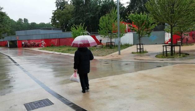 La lluvia llega de forma abundante y generalizada a toda Navarra