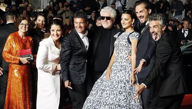Alfombra roja de 'Dolor y Gloria', de Pedro Almodóvar, en el Festival de Cannes