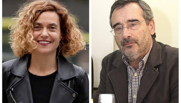 Meritxell Batet (izquierda) y Manuel Cruz (derecha), ambos del PSC, propuestos para presidir el Congreso y el Senado.