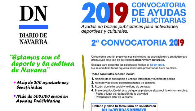 Diario de Navarra abre la 2ª Convocatoria de Ayudas Publicitarias 2019.
