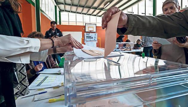 Votaciones en las anteriores elecciones forales de 2015.