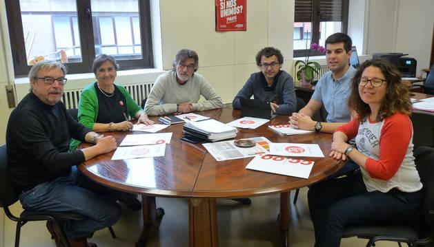 foto de Reunión entre Izquierda-Ezkerra y Comisiones Obreras