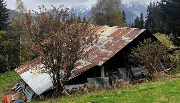 Refugio de montaña entre pistas de esquí en el que vivía 'Josu Ternera'.
