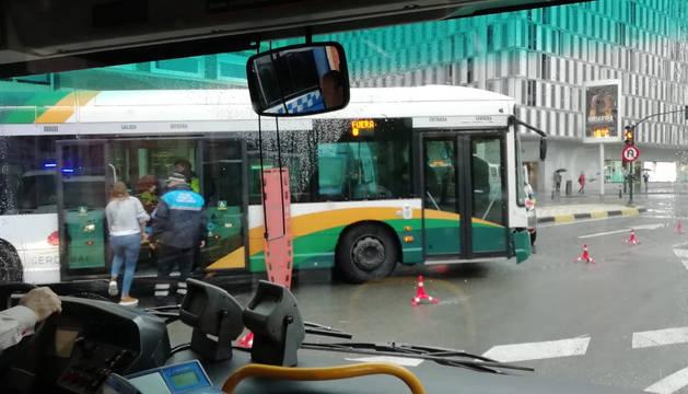 El accidente ha ocurrido en el centro de Pamplona, pasadas las 11 horas