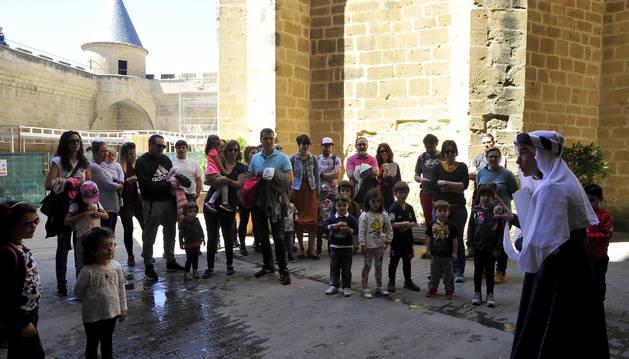 Visita infantil al Palacio Real de Olite el pasado día 1 de mayo.