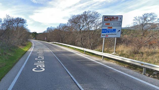 Tramo de la M-600 a la altura de la localidad madrileña de Guadarrama.