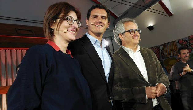 Maite Pagazaurtundúa, Albert Rivera y Carlos Pérez-Nievas