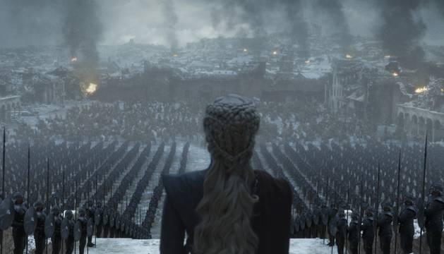 Danaerys de la Tormenta (Emilia Clarke), en un fotograma del último episodio de Juego de Tronos, emitido esta madrugada.