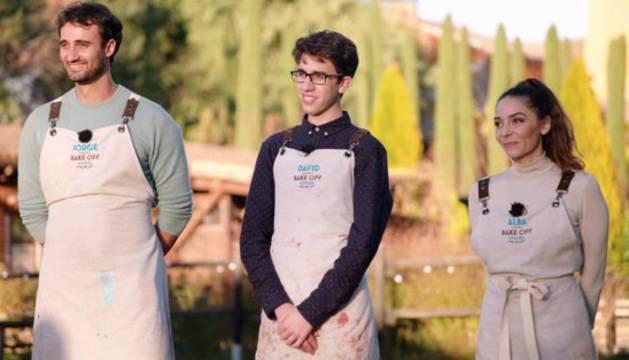 foto de Jorge, Alba y David fueron los concursantes que llegaron a la final del programa de cocina especializado en postres 'Bake Off'