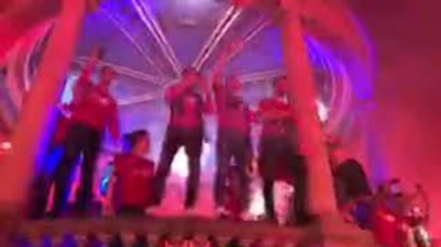Celebración del ascenso de Osasuna en la Plaza del Castillo