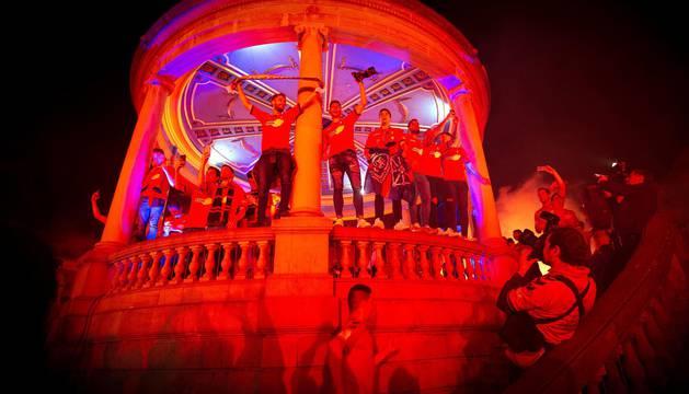Osasuna celebra el ascenso en la Plaza del Castillo