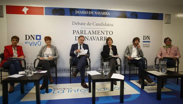 Los candidatos, en Diario de Navarra.