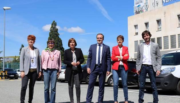 Todas las fotos de la llegada de los candidatos a la Presidencia de Navarra al debate organizado por Diario de Navarra