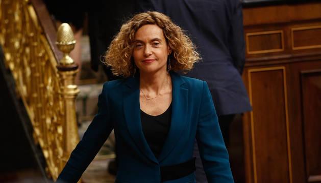 foto de Meritxell Batet durante la sesión constitutiva del Congreso de los Diputados en la que ha sido elegida presidenta de la Cámara