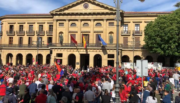 En directo: recorrido y recibimiento de Osasuna este martes en Pamplona