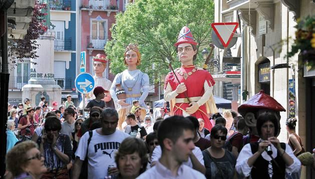 Celebración del Día del Casco Viejo de hace tres años.