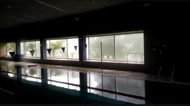 Desalojados el complejo deportivo de Cantolagua en Sangüesa
