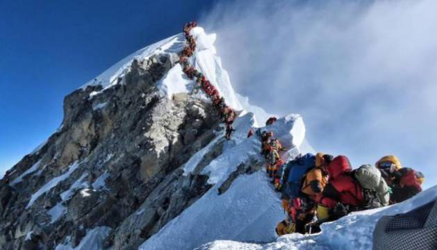 El mayor atasco registrado en el Everest