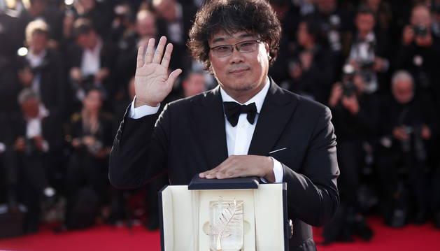 foto del surcoreano Bong Joon-Ho, Palma de Oro del Festival de Cannes.