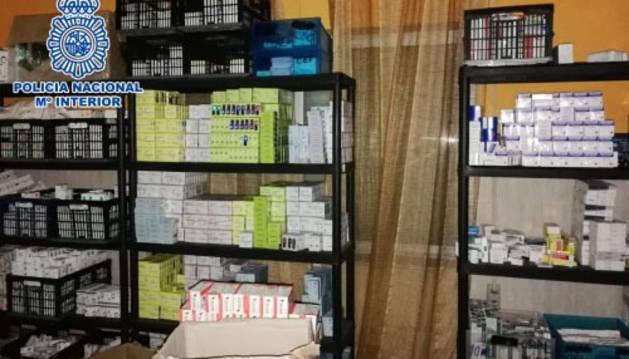 La Policía Nacional interviene 20 millones de dosis de medicinas ilegales