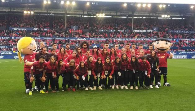 Equipos masculino y femenino de Osasuna.