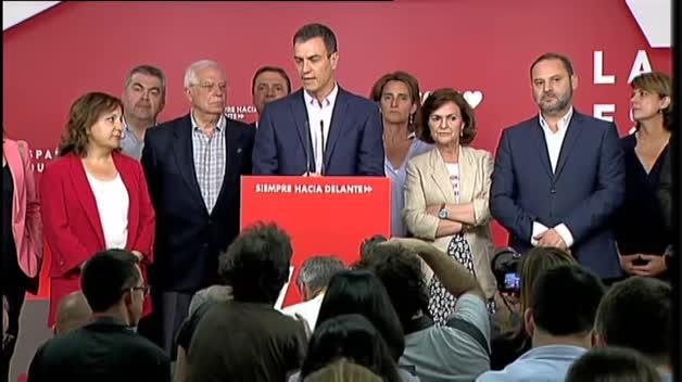 """Sánchez: """"Apelo a la responsabilidad para no dejar en manos de la ultraderecha la estabilidad de Gobiernos municipales y autonómicos"""""""