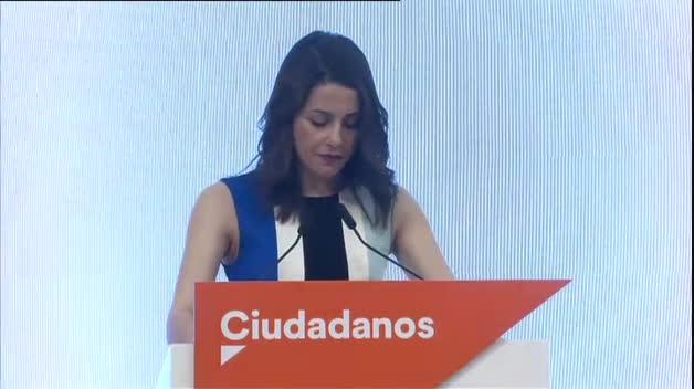 """Arrimadas: """"El crecimiento de Ciudadanos permite desalojar a Carmena"""""""
