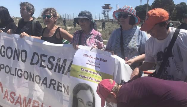 Unas 300 personas, en la XXXI Marcha contra el polígono de tiro de las Bardenas